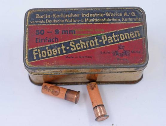 Berlin-Karlsruher-Ind.-Werke Flobert in original Blechdose